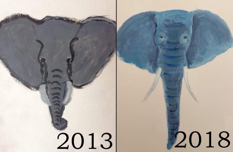 Elephants compared